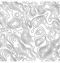 Line topographic contour map background seamless vector