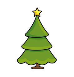 merry christmas pine tree vector image
