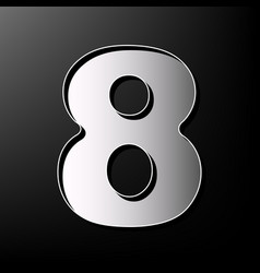 Number 8 sign design template element vector