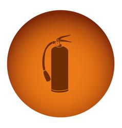 Orange emblem extinguisher icon vector