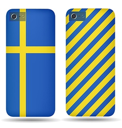 Rear covers smartphone with flags of sweden vector