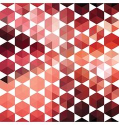 Retro pattern of geometric shapes hexagon vector