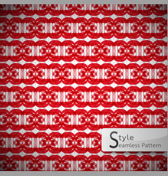 Ribbon bow red lattice vintage geometric seamless vector