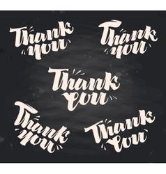 Thank you handwritten inscription written vector image vector image