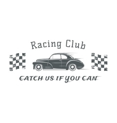 Vintage racing club badge template vector image vector image