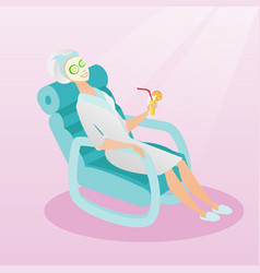 woman getting beauty treatments in the salon vector image