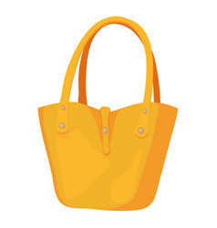 women bag icon cartoon style vector image