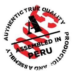 Assembled in peru rubber stamp vector