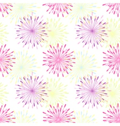 Springtile Colorful Flower Seamless Pattern vector image