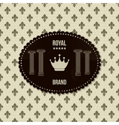 Royal crown background vector