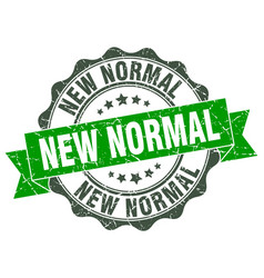 New normal stamp sign seal vector