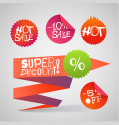 color polygonal origami shopping banners super vector image