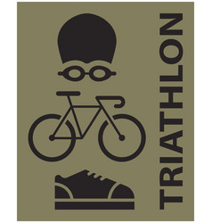 triathlon sport icon vector image