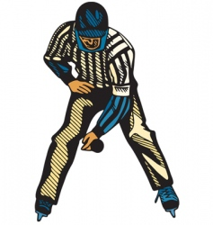 Hockey referee vector