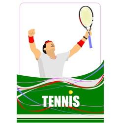 al 0747 tennis 01 vector image
