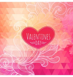 Valentine triangle background vector