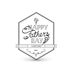 Fathers day vintage lettering background vector image