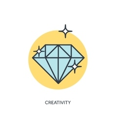 Flt diamond lined icon vector