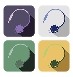 Set of colorful icons of charger vector