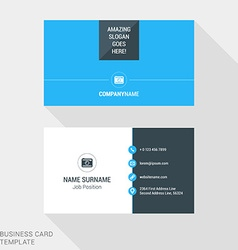 Modern creative business card template flat design vector