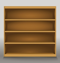 Empty shelves template for a content vector