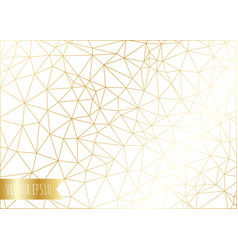 Abstract gold polygonal background vector