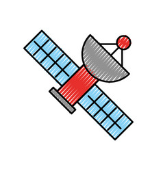 Artificial satellite spacial icon vector