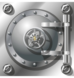 Bank vault door vector