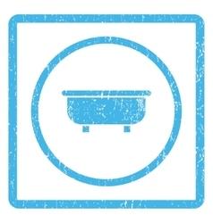 Bathtub icon rubber stamp vector