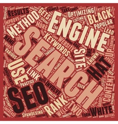 Black white the philosophies of seo text vector