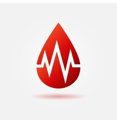 Blood drop red icon vector