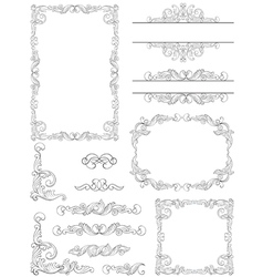 borders and frames vector image vector image