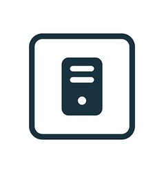 computer icon Rounded squares button vector image vector image