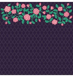 doodle rose border vector image vector image