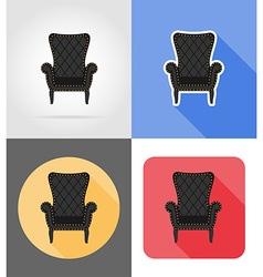 Furniture flat icons 02 vector