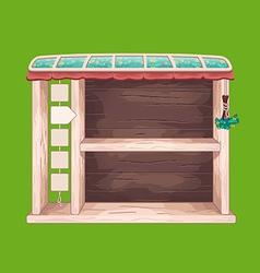 Game wooden shelf window vector