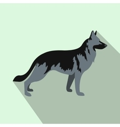 German Shepherd dog icon flat style vector image vector image