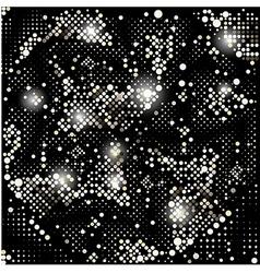 Gold background disco lights frame vector