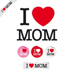 happy mothers day i love mom vector image vector image