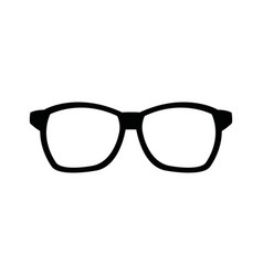 Hipster glasses accessory fashion icon vector