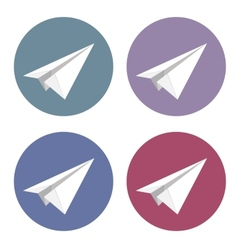 isolated plane icons set vector image vector image