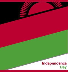 Malawi independence day vector