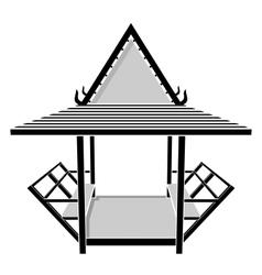 Pavilion thai gazebo rest area vector