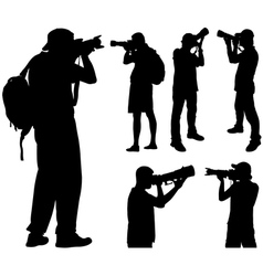 Photographers silhouettes vector