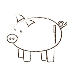 Piggy save money bank sketch vector