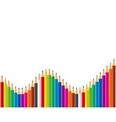 Rainbow set of colored pencils vector image vector image