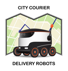 robot dron delivers the parcel the concept of vector image vector image