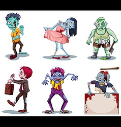 Scary zombies vector image vector image