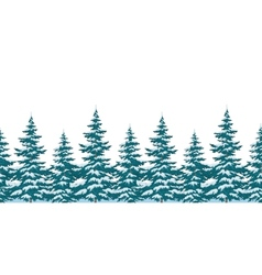 Seamless background Christmas trees vector image vector image