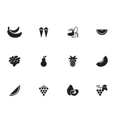 set of 12 editable berry icons includes symbols vector image vector image